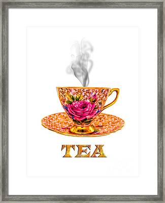 Potty About Tea Framed Print by Gillian Singleton