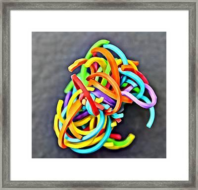 Pouff Ball Framed Print by Cali Bernier