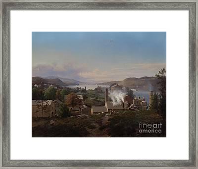 Poughkeepsie Iron Works Framed Print