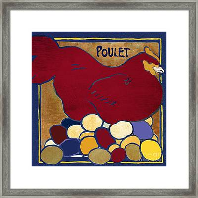 Poulet II Framed Print by Mindy Sommers