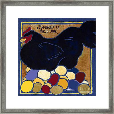 Poulets I Framed Print by Mindy Sommers
