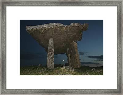 Poulnabrone Dolmen Framed Print by John Quinn