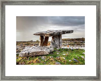 Poulnabrone Dolmen Framed Print by Natasha Bishop