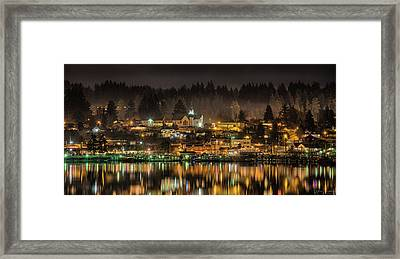 Poulsbo Waterfront 5 Framed Print by Wally Hampton