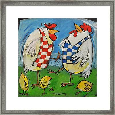 Poultry In Motion Framed Print by Tim Nyberg