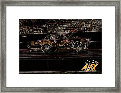 Pouncin Poncho Framed Print by Darrell Foster