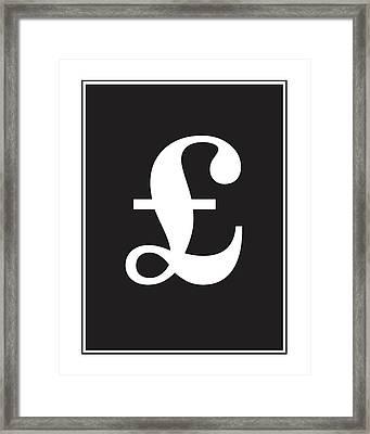 Pound Symbol  Framed Print