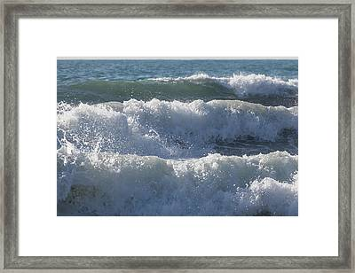 Framed Print featuring the photograph Pounding Surf by Cliff Wassmann