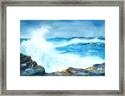 Pounding Surf Framed Print
