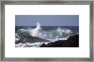 Pounding Surf Framed Print by Randy Hall