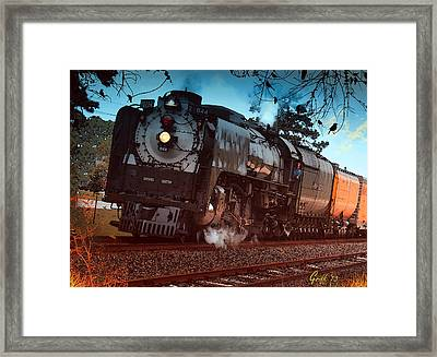 Pounding Up The Texas Grade Framed Print by J Griff Griffin