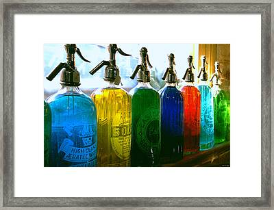 Pour Me A Rainbow Framed Print by Holly Kempe