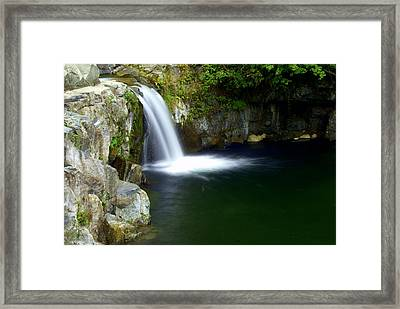 Pour Off Framed Print by Marty Koch