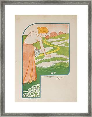 Pour Une Champignonniere Framed Print by Celestial Images