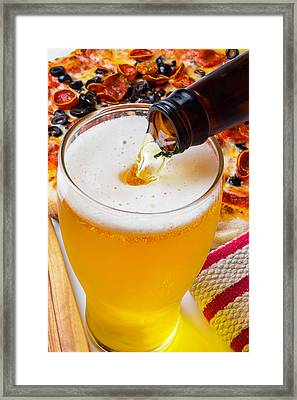Pouring Beer Framed Print by Garry Gay