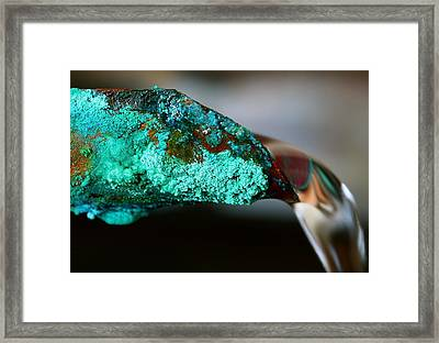 Pouring Copper Framed Print by Jason Wolters