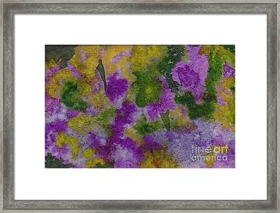 Framed Print featuring the painting Pouring Flowers by Vicki  Housel