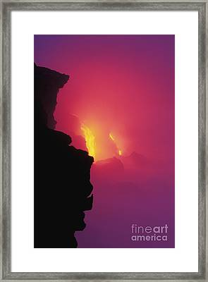Pouring Lava Framed Print by William Waterfall - Printscapes