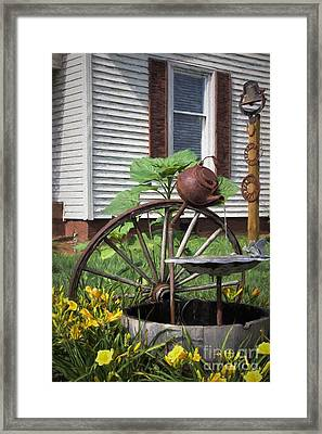 Pouring Out The Past Framed Print by Benanne Stiens