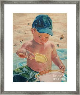 Pouring Sand Framed Print by Lisa Pope