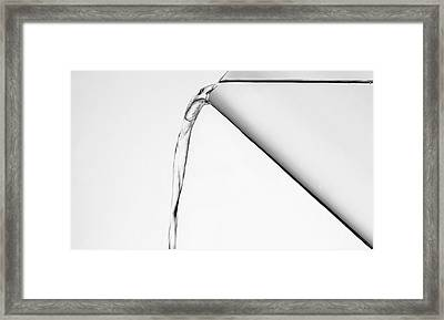 Pouring Water Framed Print by Mark Wagoner