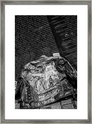 Pow Mia Never Forget Framed Print by Sennie Pierson