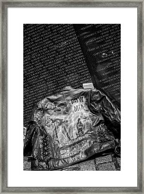 Pow Mia Never Forget Framed Print
