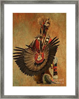 Framed Print featuring the mixed media Pow Wow 2 by Jim  Hatch