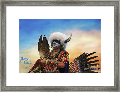 Framed Print featuring the photograph Pow Wow 3 by Jim  Hatch
