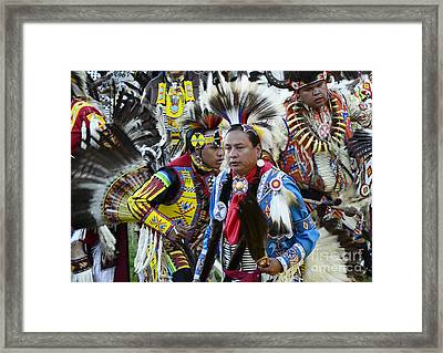 Pow Wow Back In Time 1 Framed Print by Bob Christopher