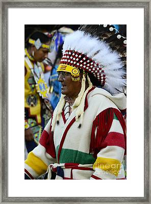 Pow Wow Beauty Of The Past 16 Framed Print by Bob Christopher
