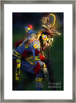 Pow Wow Beauty Of The Past 7 Framed Print