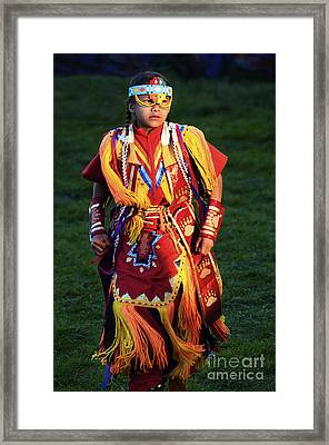 Pow Wow Beauty Of The Past 8 Framed Print