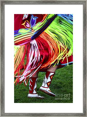 Pow Wow Beauty Of The Past 9 Framed Print