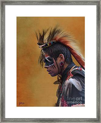 Framed Print featuring the mixed media Pow Wow by Jim  Hatch