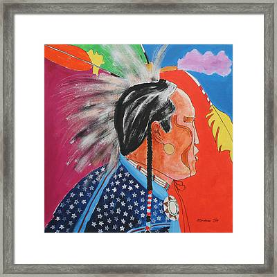 Framed Print featuring the painting Pow Wow by Mordecai Colodner