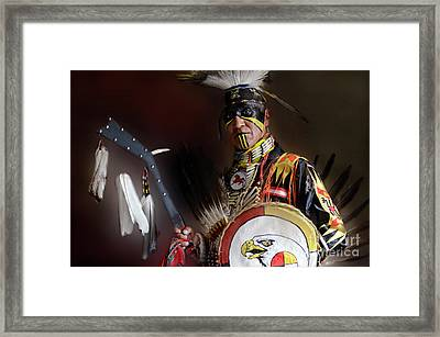 Pow Wow Portrait Of A Proud Man 2 Framed Print by Bob Christopher