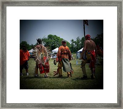 Pow Wow Framed Print by Vijay Sharon Govender