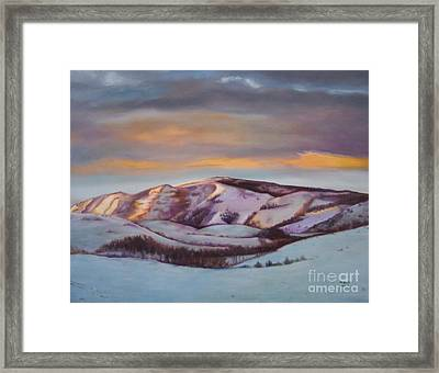 Powder Mountain Framed Print by Marlene Book
