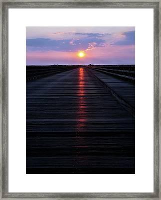 Powder Point Bridge  Framed Print