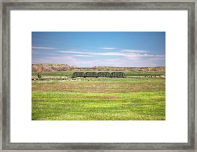 Powder River Bridge Framed Print