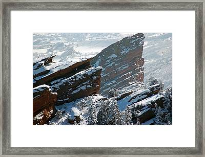 Powdered Red Rocks Framed Print by Kevin Munro
