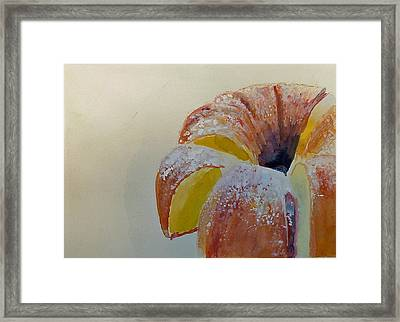 Powdered Sugar Lemon Bundt Cake Framed Print