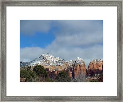 Powdered Sugar Sedona Red Rocks Framed Print