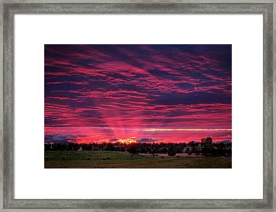 Powell Butte Oregon Sunset Framed Print