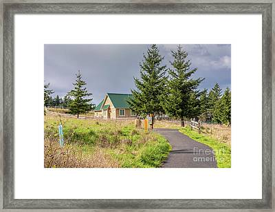Powell Butte Park In Portland Oregon. Framed Print by Gino Rigucci