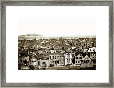 Powell Street Between Sacramento And California Streets Looking  Framed Print