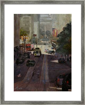 Powell Street Morning Framed Print by Heather Burton