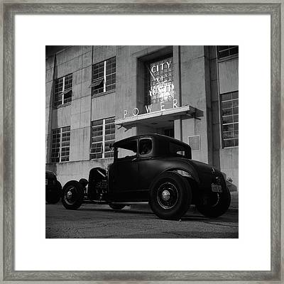 Power And Light Framed Print by Chad Schaefer