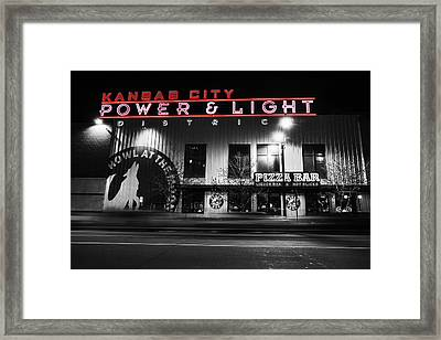 Power And Light Pizza Bw Framed Print by Thomas Zimmerman